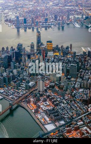 Vue aérienne de la ville de New York, New York, United States Banque D'Images