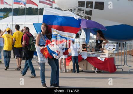 Moscou, Russie, le mercredi, 26 août, 2015. Le Douzième Salon International de l'aéronautique de Moscou MAKS 2015 Banque D'Images
