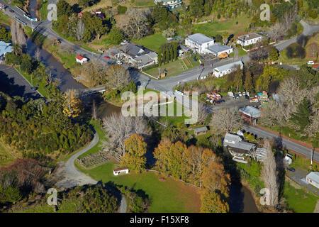 Malindi et Puhoi River Région d'Auckland, île du Nord, Nouvelle-Zélande - vue aérienne Banque D'Images