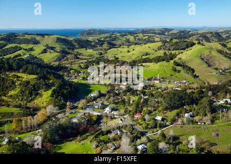 Malindi, Auckland, North Island, New Zealand - vue aérienne Banque D'Images