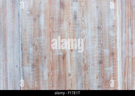 De fond de bois surmonté de panneaux de bois rustique en difficulté avec la peinture bleu pâle montrant brown texture Banque D'Images