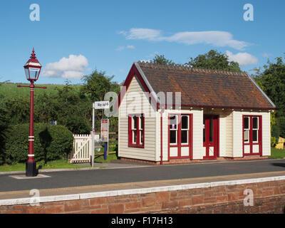 L'ancienne salle d'attente sur la plate-forme à Langwathby station sur la ligne de chemin de fer - Carlisle s'installer dans la région de Cumbria, Angleterre.