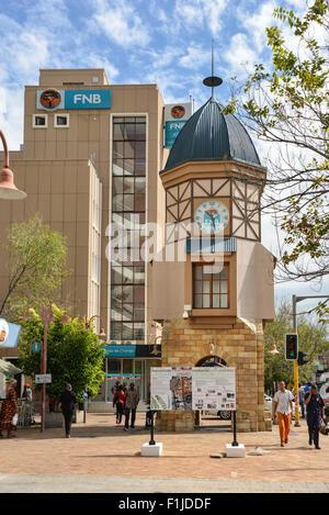 Tour de l'horloge sur l'Avenue de l'indépendance, Windhoek, Khomas Windhuk (région), République de Namibie Banque D'Images