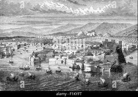 De l'Athènes antique du port du Pirée, Grèce Banque D'Images