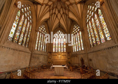 La dame Chapelle, Wells Cathedral et Wells, Somerset, UK Banque D'Images
