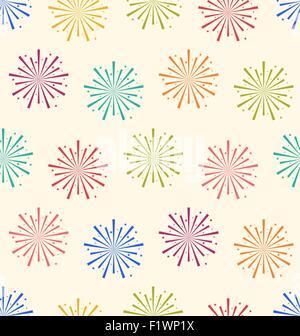 Modèle sans artifices colorés pour célébration de Vacances Banque D'Images