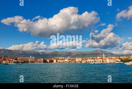 Skyline de Split, la Dalmatie, Croatie. Banque D'Images