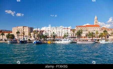 Toits de la ville de Split en Croatie. Banque D'Images