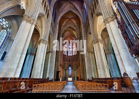 France, Marne, Reims, la cathédrale Notre-Dame classée au Patrimoine Mondial de l'UNESCO