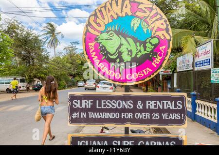 Costa Rica, province de Guanacaste, Péninsule de Nicoya, Tamarindo Banque D'Images