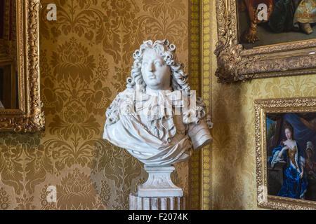 Buste du Grand Dauphin Louis de France (1661-1711) dans le Palais de Versailles (château), près de Paris, France Banque D'Images