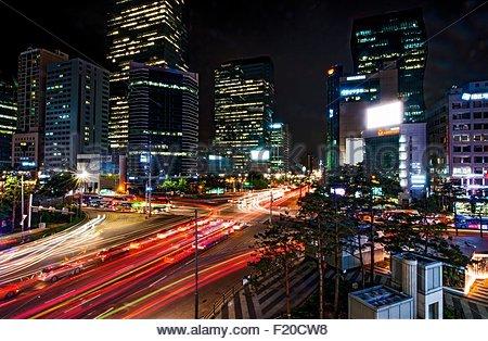 Quartier de Gangnam, Seoul, Corée du Sud Banque D'Images