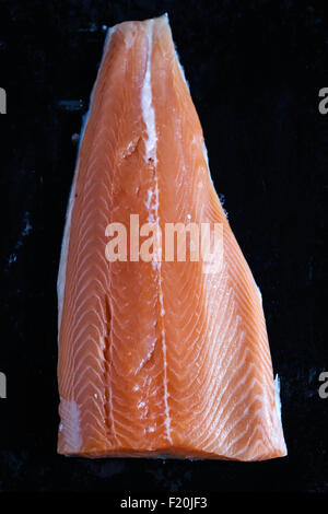 Filet de saumon cru libre. Banque D'Images