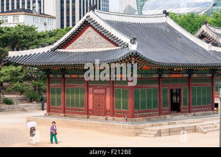 La Corée du Sud, Séoul, palais Deoksugung, le palais royal de la dynastie Joseon, pavilion Banque D'Images