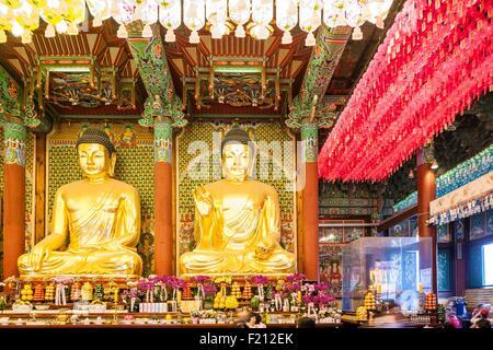 La Corée du Sud, Séoul, Jongno-gu Temple Jogyesa, (Siège de l'ordre Jogye du bouddhisme coréen) a été fondée au Banque D'Images