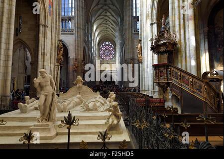 République tchèque, Prague, centre historique classé au Patrimoine Mondial par l'UNESCO, le quartier Hradcany, la Banque D'Images
