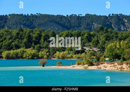La France, Var, Parc Naturel Régional du Verdon, Le Lac de St Croix Banque D'Images