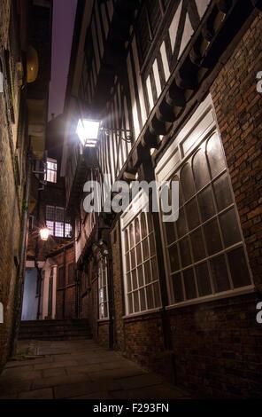 Une dame de cour Pecketts vue vers le bas dans la région de York - L'un des nombreux sites historiques de la ville Banque D'Images