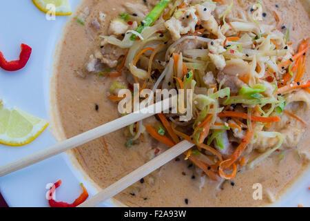 Soupe aux nouilles asiatiques de ramen Banque D'Images