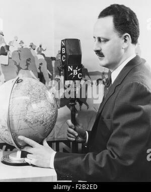 Malcolm LaPrade, animateur de radio Cook's Travelogue, diffusée entre 1926 et 1939. CSU (2015__7_375) Banque D'Images