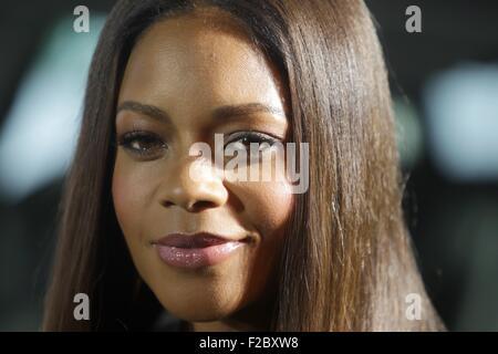 Francfort, Allemagne. 15 Sep, 2015. L'actrice britannique Naomi Harris assiste à la partie James Bond événement Banque D'Images