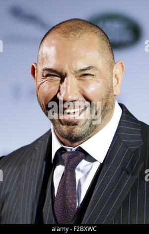 Francfort, Allemagne. 15 Sep, 2015. L'acteur David Michael Bautista Jr. participe à la partie de James Bond événement Banque D'Images
