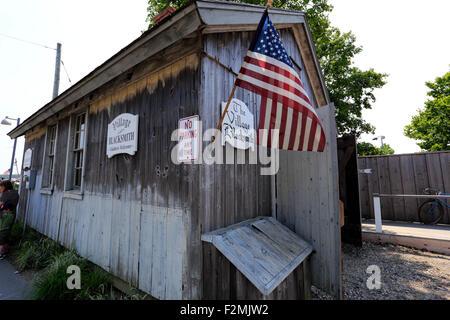 Village blacksmith shop New York Long Island Greenport Banque D'Images