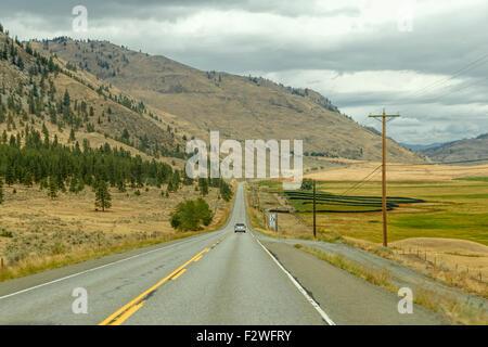 Campagne le long de l'autoroute Crowsnest, Okanagan-Similkameen, British Columbia, Canada, Amérique du Nord Banque D'Images