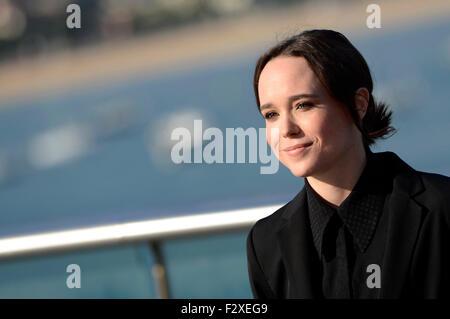 """Ellen Page assiste à la conférence de presse pour """"Freeheld"""" au 63. International Filmfestival San Sebastian / Festival Internacional de Cine de Donostia-San Sebastián, 24.09.2015/photo alliance"""