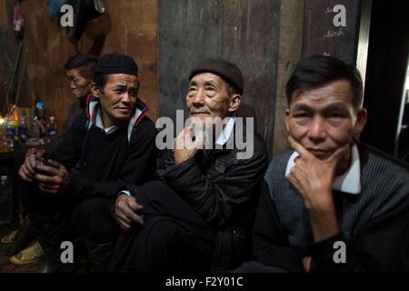 Rites funéraires de la tribu Hmong hill, Vietnam Banque D'Images