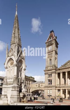 Chamberlain Square, Birmingham, Angleterre, RU Banque D'Images