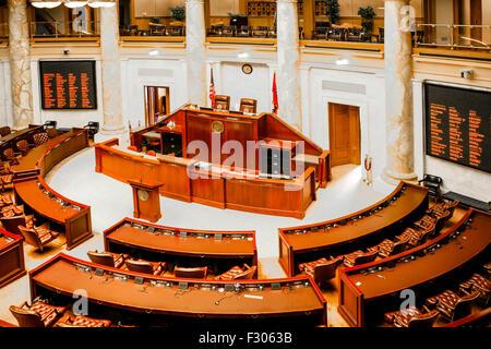 Chambre des représentants à l'intérieur de l'Arkansas State Capitol building dans Little Rock