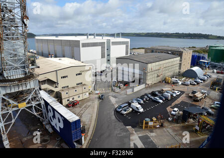 Le chantier Pendennis à Falmouth Docks en Falmouth, Cornwall Banque D'Images