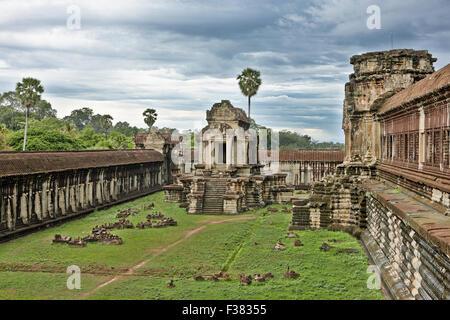 Temple d'Angkor Wat. Parc archéologique d'Angkor, la Province de Siem Reap, au Cambodge. Banque D'Images