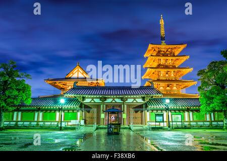 Temple Shitennoji, à Osaka au Japon. Banque D'Images