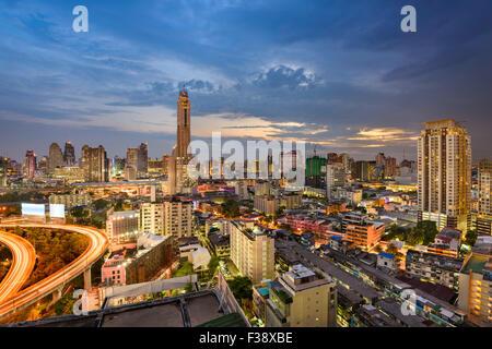 Bangkok, Thaïlande, les toits de la ville. Banque D'Images