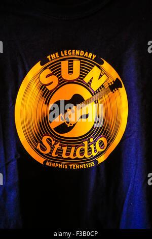 Marchandises en vente au Sun Studio à Memphis au Tennessee. Berceau du Rock N' Roll et de l''Million Dollar Quartet' Banque D'Images