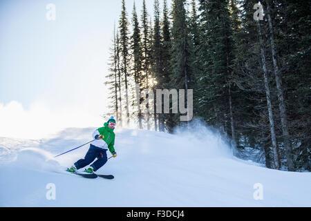 Ski alpin homme Banque D'Images
