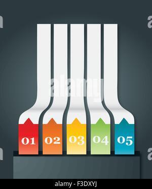 Résumé de l'élément infographies origami. Vector illustration Banque D'Images