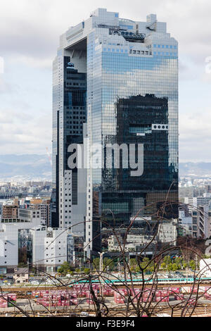 Osaka, Umeda Sky Building, double tours de bureaux s'est joint à la partie supérieure, populaire monument, un autre Banque D'Images