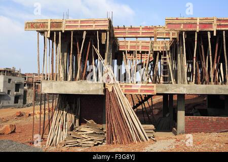 Maison en construction; Talegaon, Pune Maharashtra, Inde; Banque D'Images