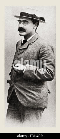 Joseph Rudyard Kipling, 1865 - 1936. Anglais écrivain, poète, journaliste et romancier. Banque D'Images