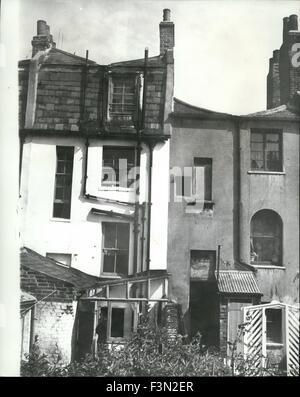 24 février 1967 - La maison où ils vivent: dans une maison mitoyenne à Dalston, près de l'endroit où les fascistes Banque D'Images