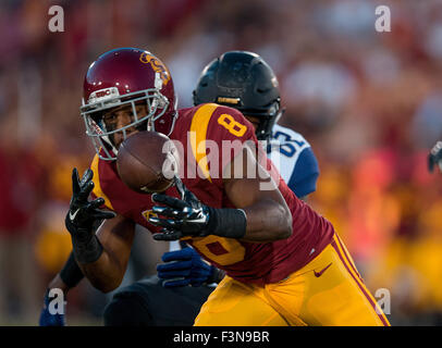 Los Angeles, CA, USA. 05Th Oct, 2015. L'USC (8) évoluait Marshall Iman et l'interception permet au cours d'un match Banque D'Images
