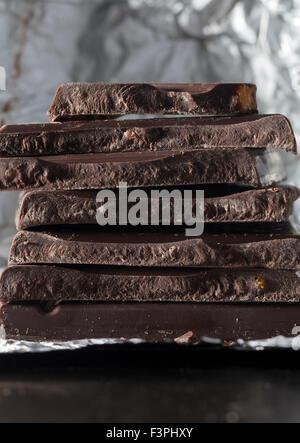 Chocolat noir Banque D'Images