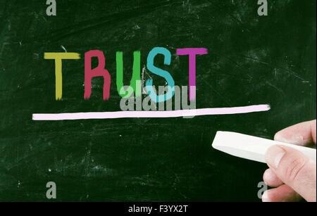 notion de confiance Banque D'Images