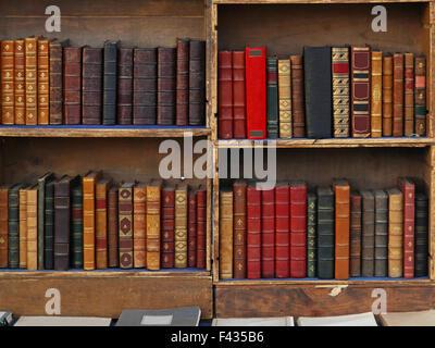 Vintage Books dans la vieille bibliothèque Banque D'Images