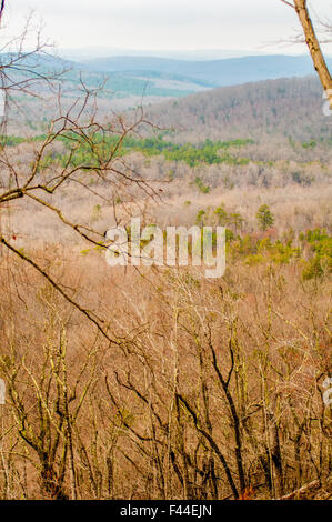 Montagnes Uwharrie en Caroline du Nord Banque D'Images
