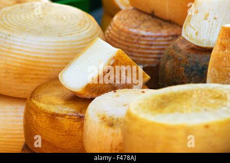 Différentes sortes de fromage italien Banque D'Images