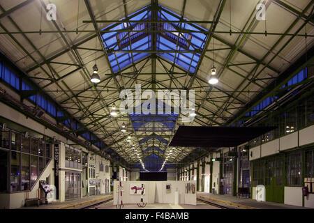 Vue intérieure Depot, Dortmund, Allemagne. Banque D'Images